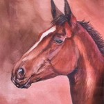 Original Painting of a Horse in Acrylic by Mandi Baykaa-Murray