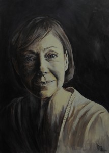 Portrait of Jenny Agutter, painted for a Facebook group (United By Art) Challenge .