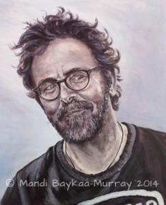 """Vic Bearcroft by MAndi Baykaa-Murray. Acrylic, 12"""" x 15"""""""